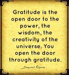 gratitude. chopra