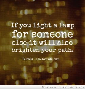 If you light a lamp quote
