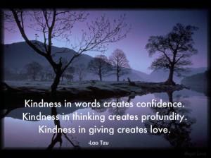 kindness confidence