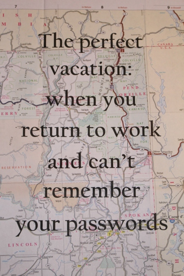 can't remember passwords. map