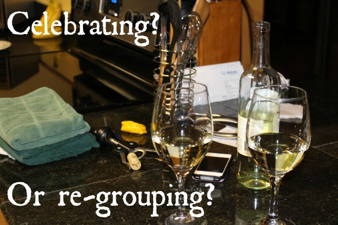 celebrating or regrouping