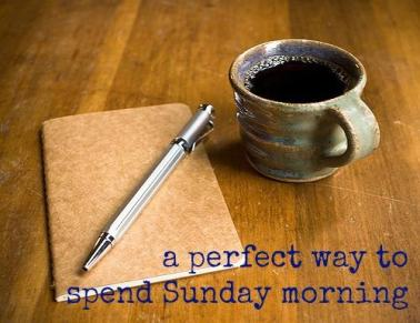 coffee. sunday morning. journal. coffee cup