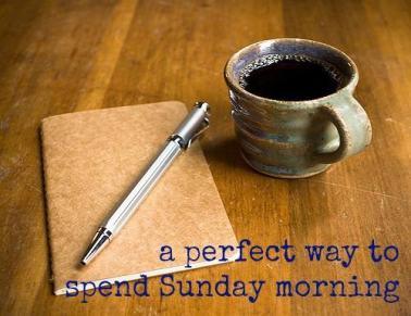 coffee. sunday morning. journal. coffee cup
