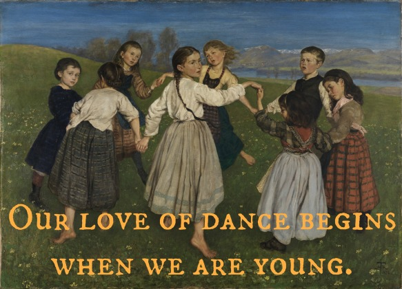 our love of dance. Hans_Thoma_-_Kinderreigen_(1872)